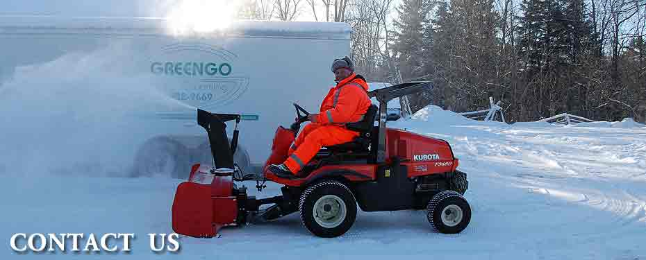 Blowing snow with a Kubota F3680