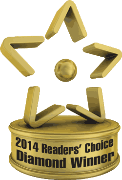 2014 Readers' Choice Diamond Winner trophy